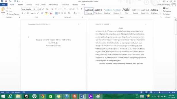 Apa format Sample Paper Doc Elegant formatting Apa Style In Microsoft Word 2013 9 Steps