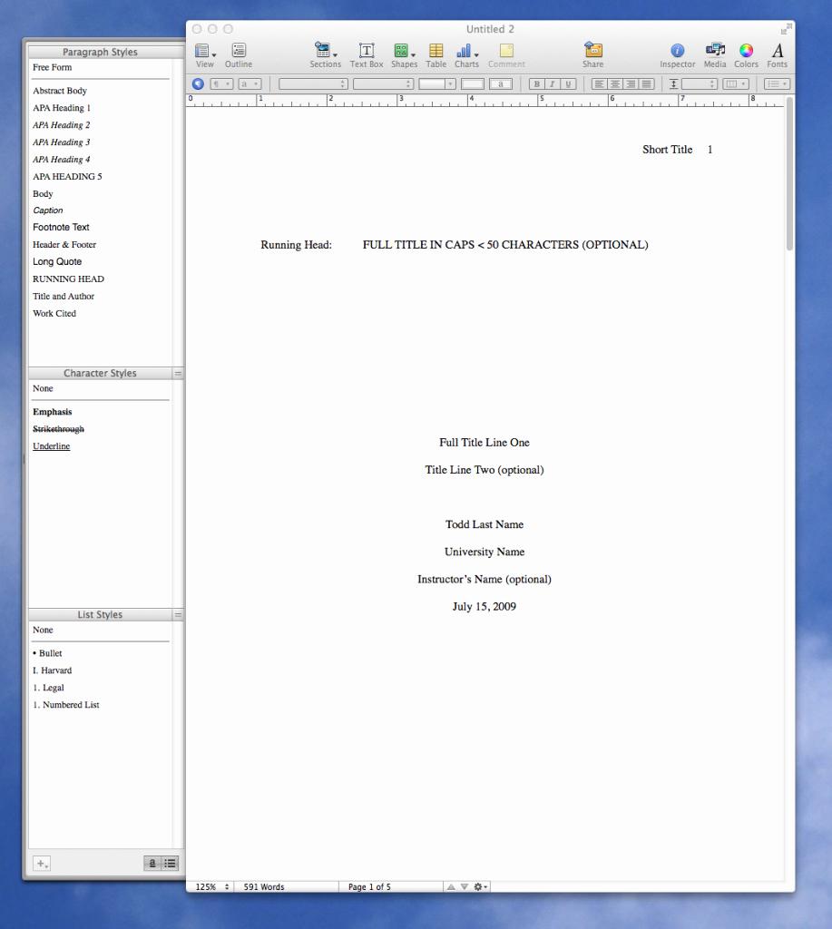 Apa format software Free Download Inspirational Apa format Template