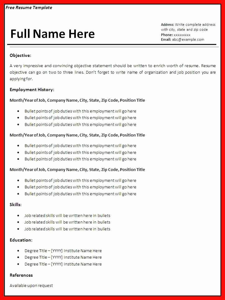 Apa format Template Open Office Best Of Office Resumes Templates