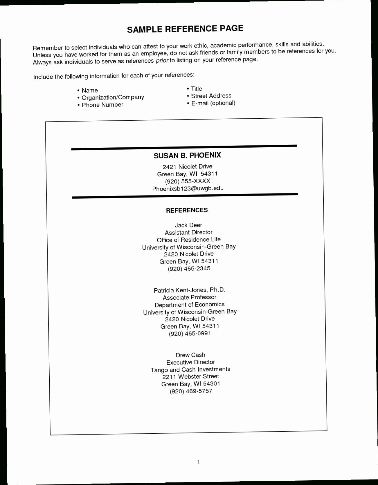 Apa format Template Open Office Elegant Resume and Template Resume References Template Reference