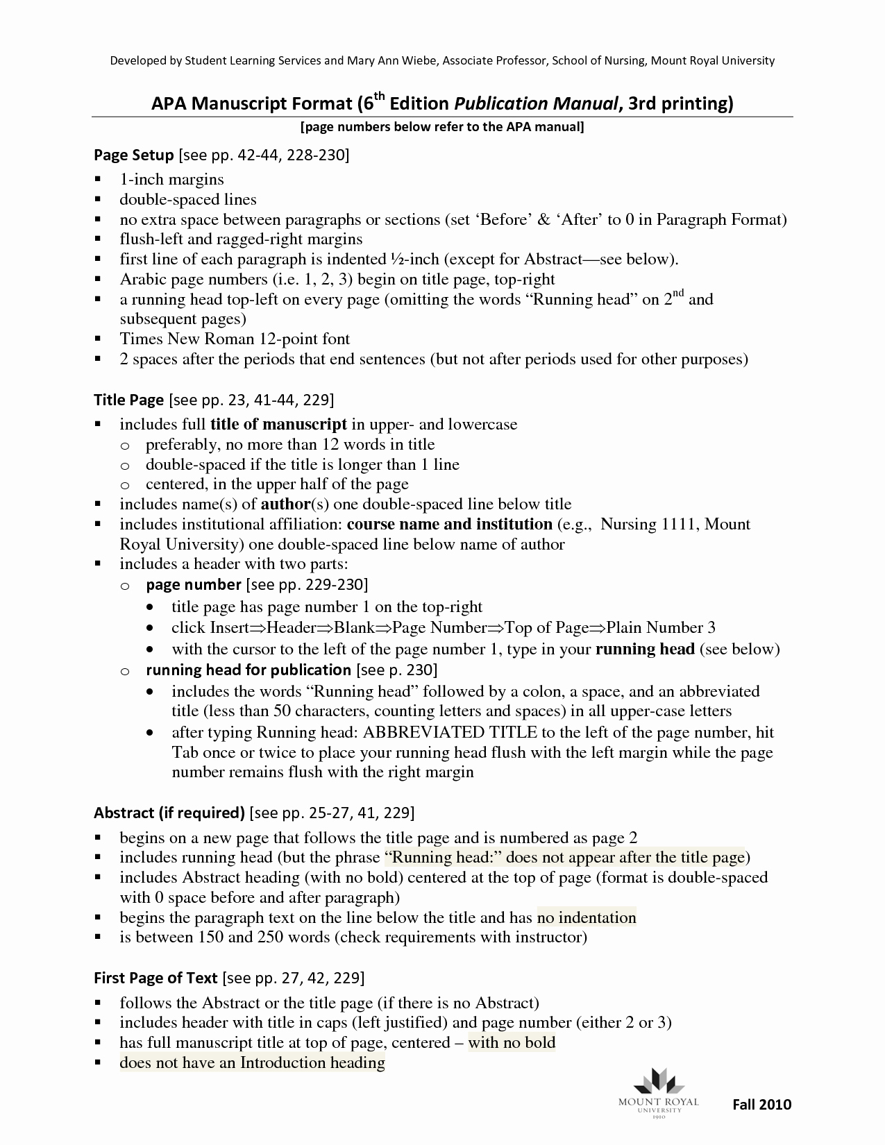 Apa format Template Open Office Fresh Essay Apa 6th Edition format