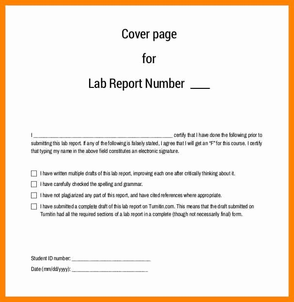 Apa Lab Report Cover Page Awesome Apa Lab Report Sample Lab Report Apa format Research