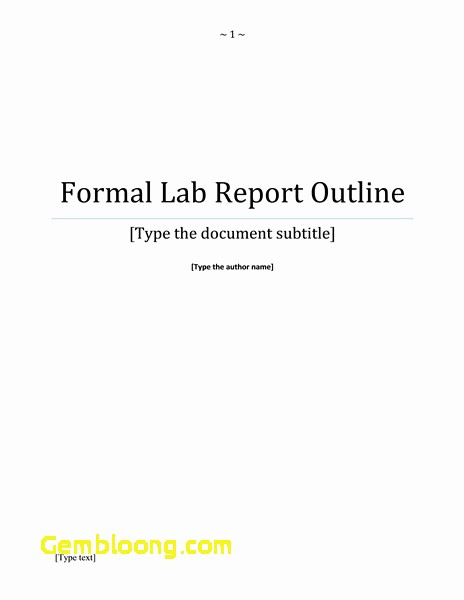 Apa Lab Report Cover Page Beautiful Lab Report Title Page Fresh Report Cover Page Business