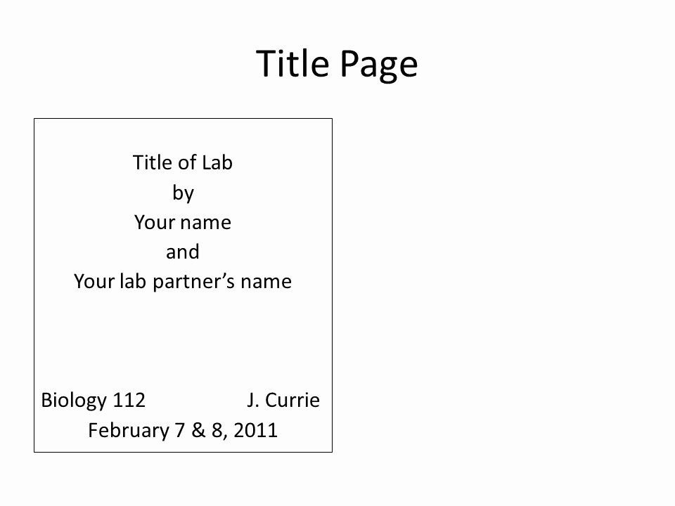 Apa Lab Report Cover Page Elegant Lab Report Title Page format Free Download Elsevier
