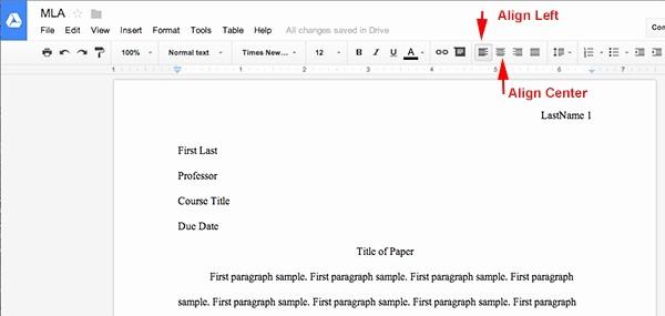 Apa Paper Template Google Docs Awesome Letter format Google Docs