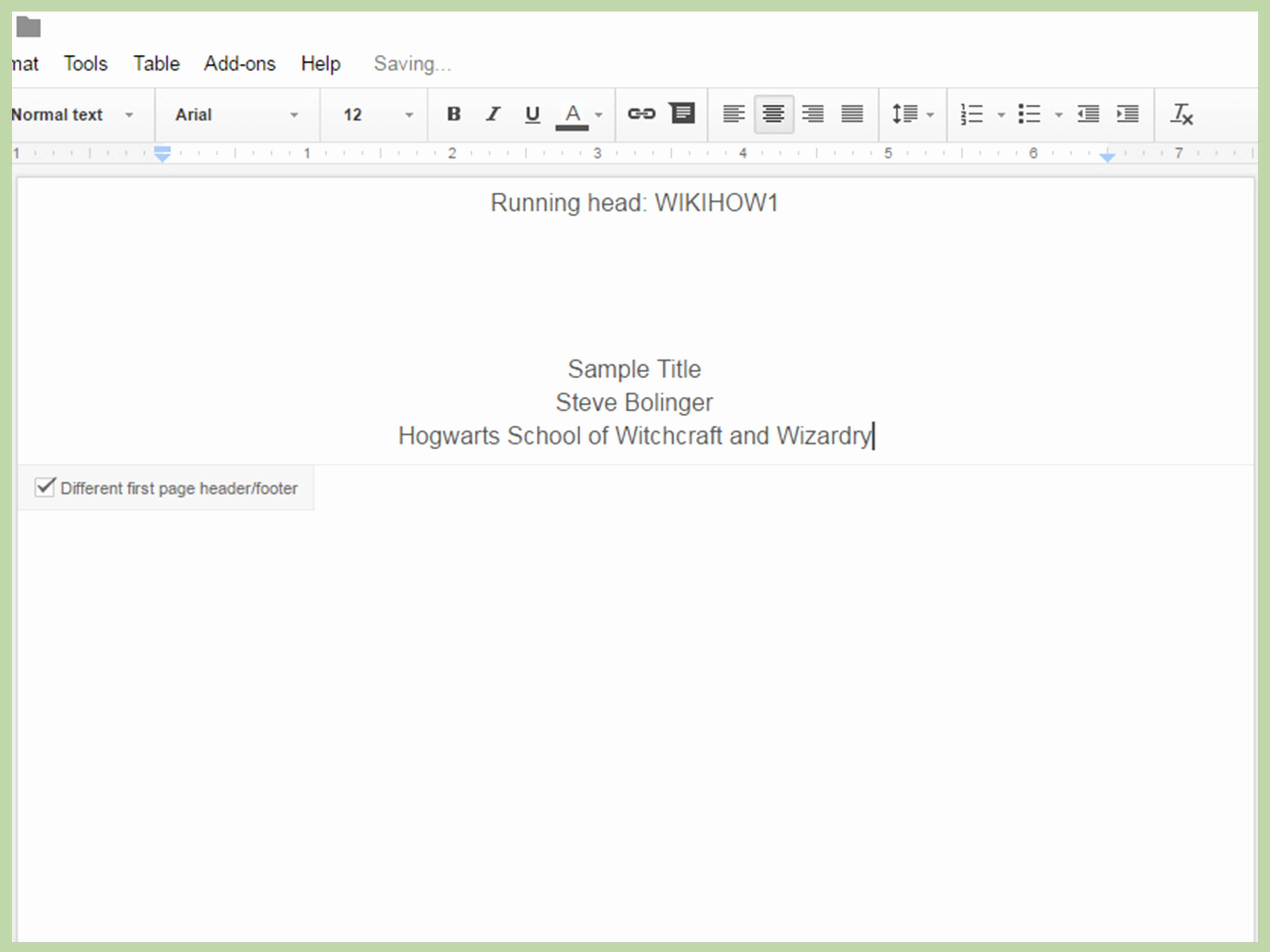 Apa Paper Template Google Docs Beautiful How to Create An Apa Style Title Page Via Google Drive 12