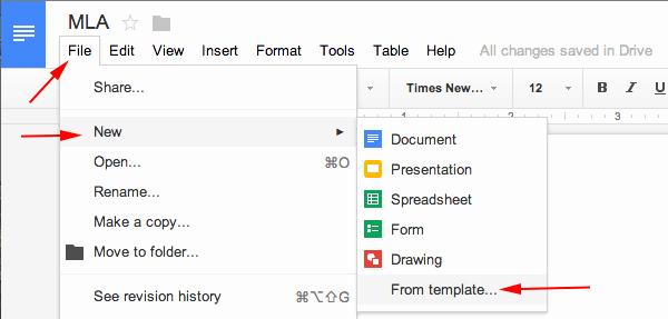 Apa Paper Template Google Docs Fresh Mla format Google Docs