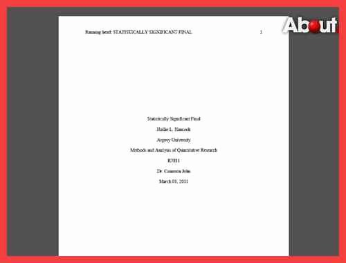 Apa Style Cover Page 2016 Beautiful Apa Title Page format 2016