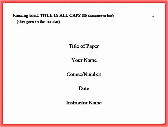 Apa Style Cover Page 2016 Elegant Apa Title Page Template 2017 Edition Reference