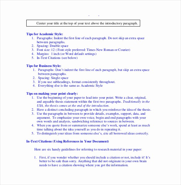 Apa Style Cover Page 2016 Elegant Research Paper Marking Guide