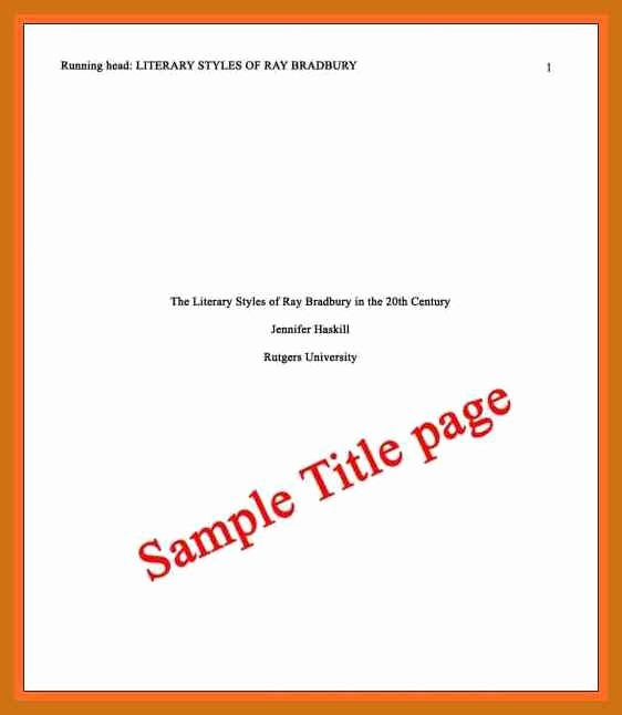 Apa Style Cover Page 2016 Lovely Apa format Cover Page Template Apa Cover Page format Apa