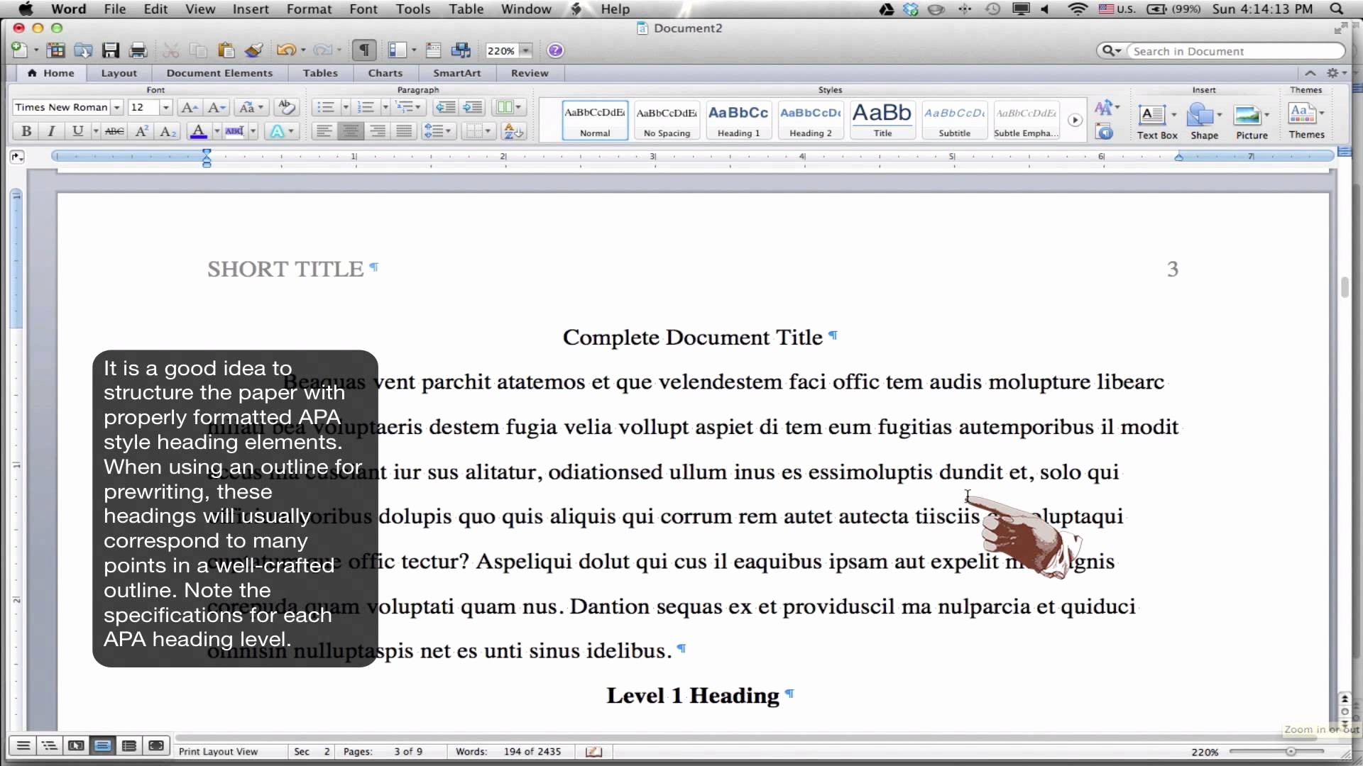 Apa Style Microsoft Word 2013 Awesome Apa format Template Word 2013