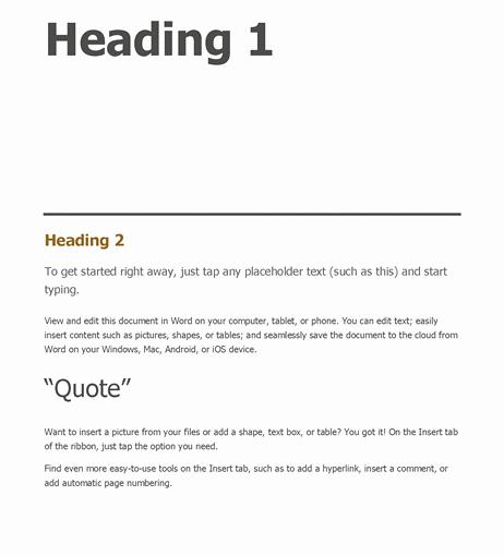 Apa Style Microsoft Word 2013 Luxury New Blank Apa format Template – Free Template Design