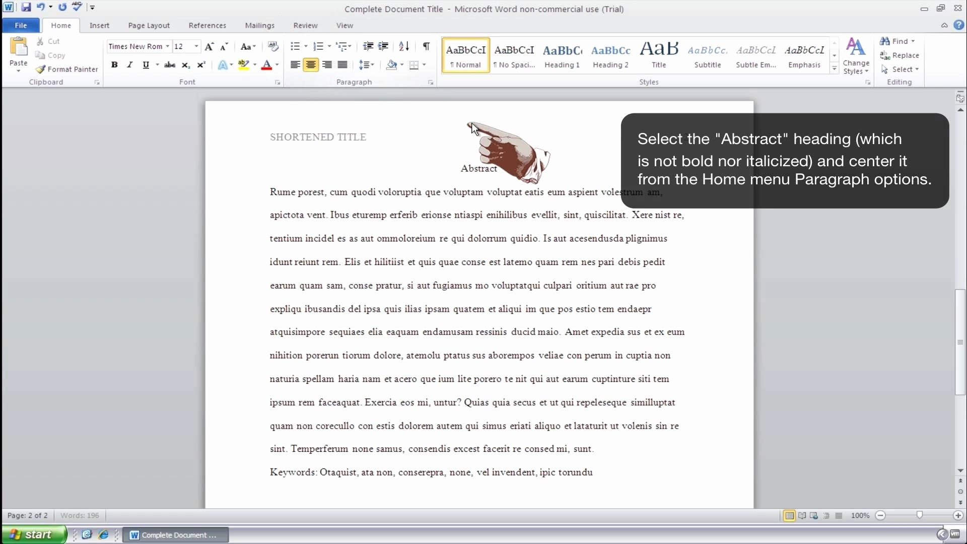 Apa Style Microsoft Word 2013 Unique Apa Template Word 2010
