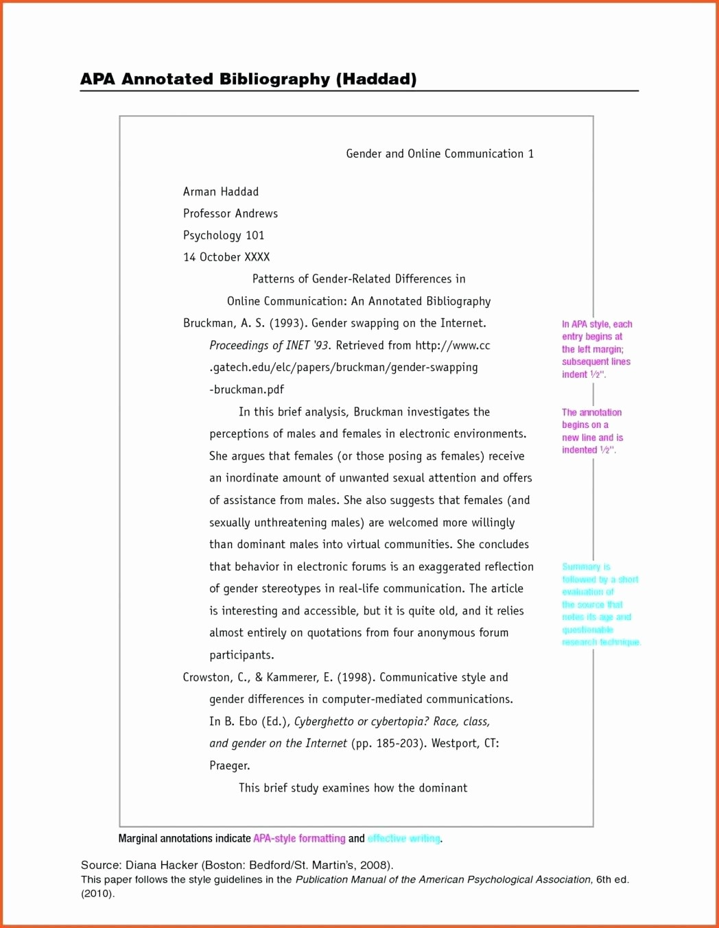 Apa Style Paper 6th Edition Beautiful Word Apa 6th Edition Template