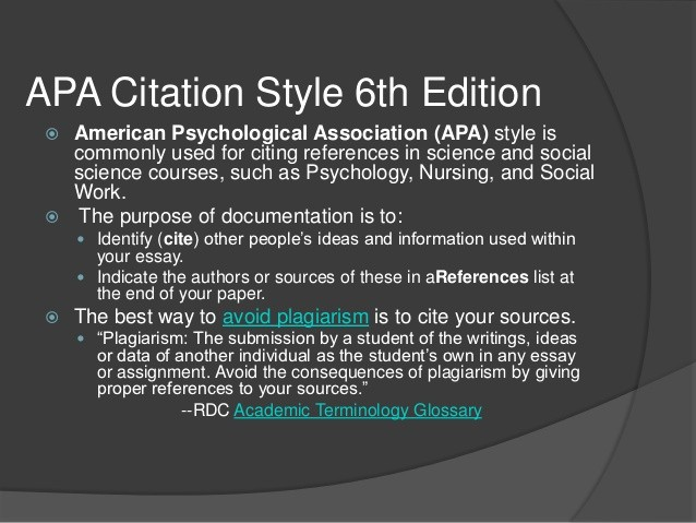 Apa Style Paper 6th Edition Best Of Apa Citation Style 6th Edition