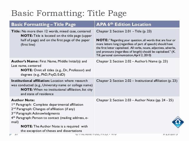 Apa Style Paper 6th Edition Fresh Apa 6th Ed Tutorial V10