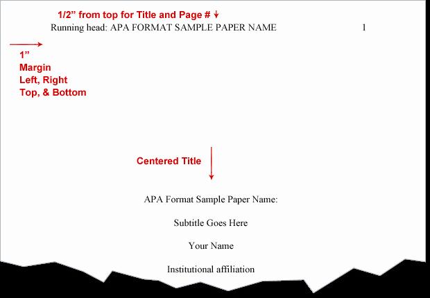 Apa Style Paper 6th Edition Fresh Apa format