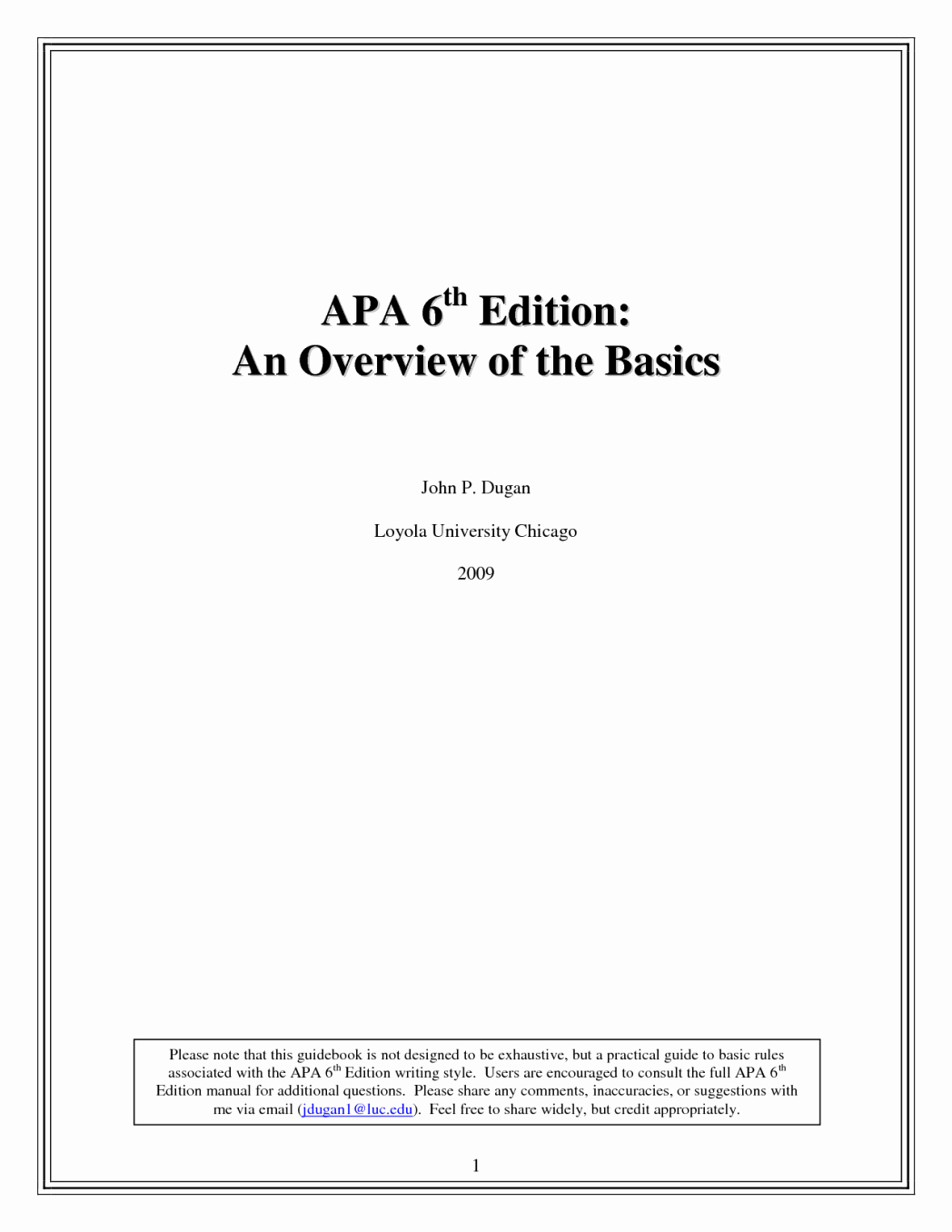 Apa Style Paper 6th Edition Inspirational Apa Style Sixth Edition Example