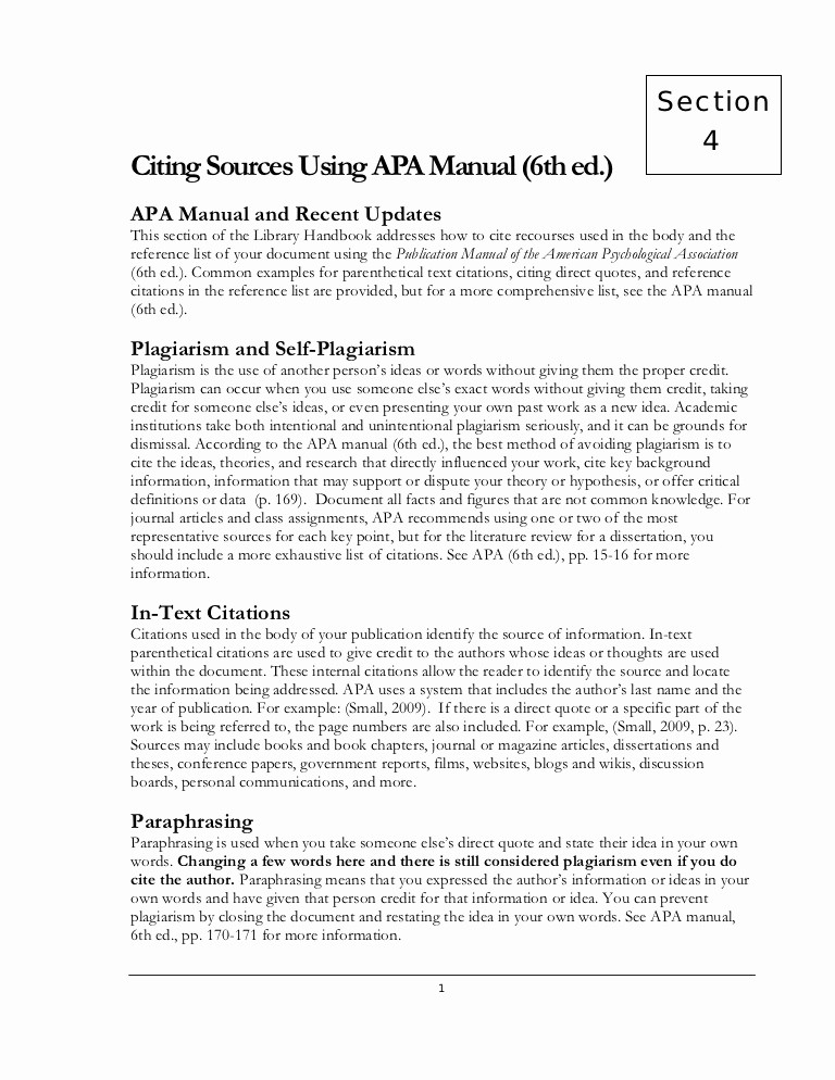 Apa Style Paper 6th Edition Lovely Apa 6th Ed