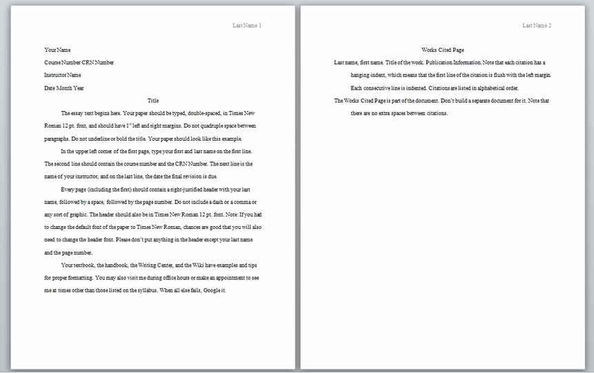 Apa Style Sample Paper Doc Best Of Apa format Template