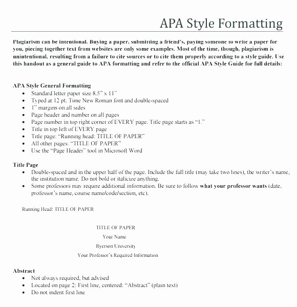 Apa Style Sample Paper Doc Unique Template Apa format Style Research Paper An Example
