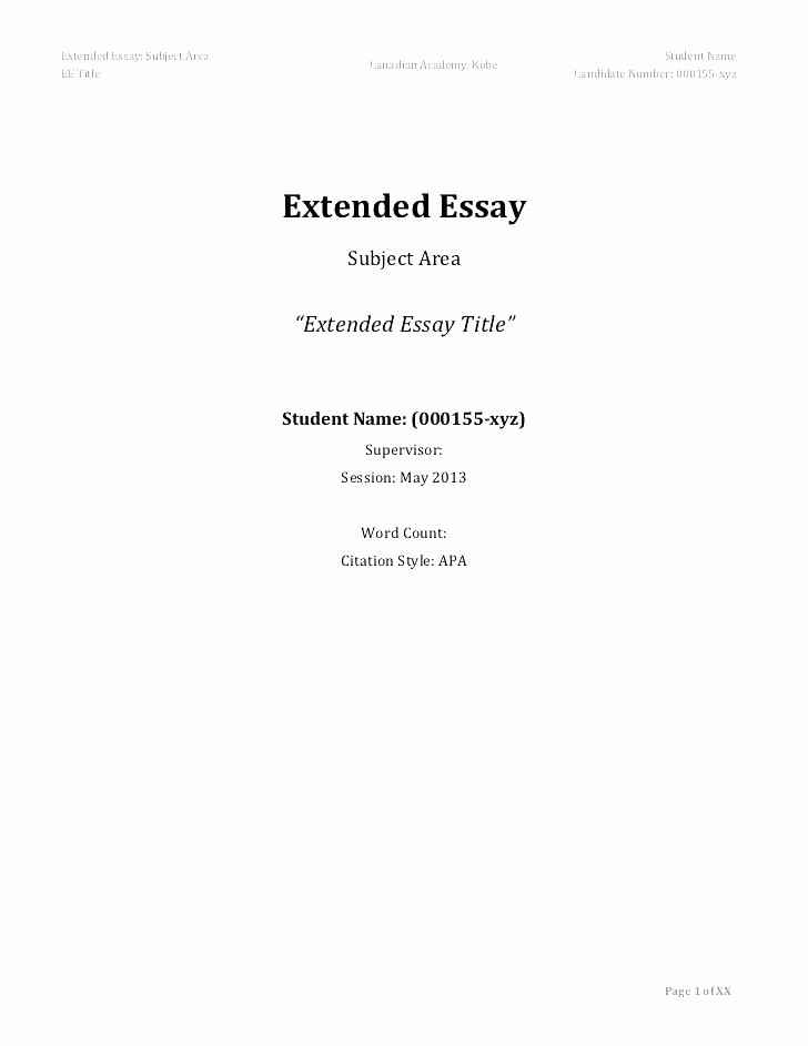 Apa Style Title Page Template Awesome 12 13 Apa formatted Title Page