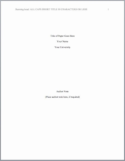 Apa Style Title Page Template Awesome Best 25 Apa format Cover Page Ideas Pinterest