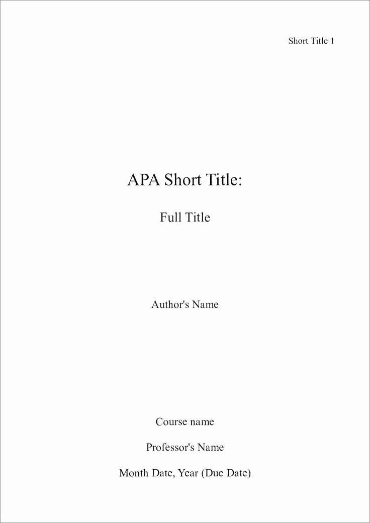 Apa Style Title Page Template Best Of Discreetliasons