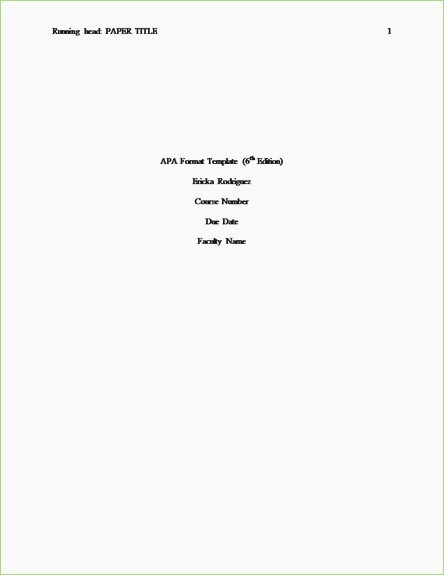 Apa Style Title Page Template Elegant Apa format Cover Letter – thepizzashop