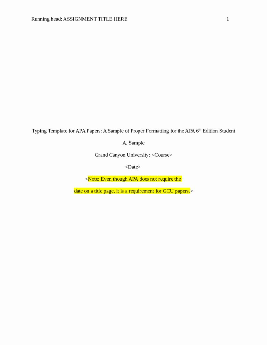 Apa Style Title Page Template Fresh 2018 Apa Title Page Fillable Printable Pdf & forms