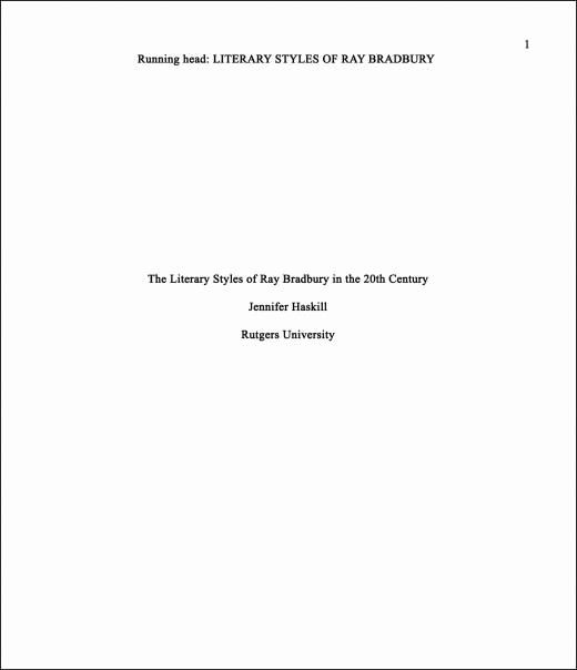title apa format cover page examples