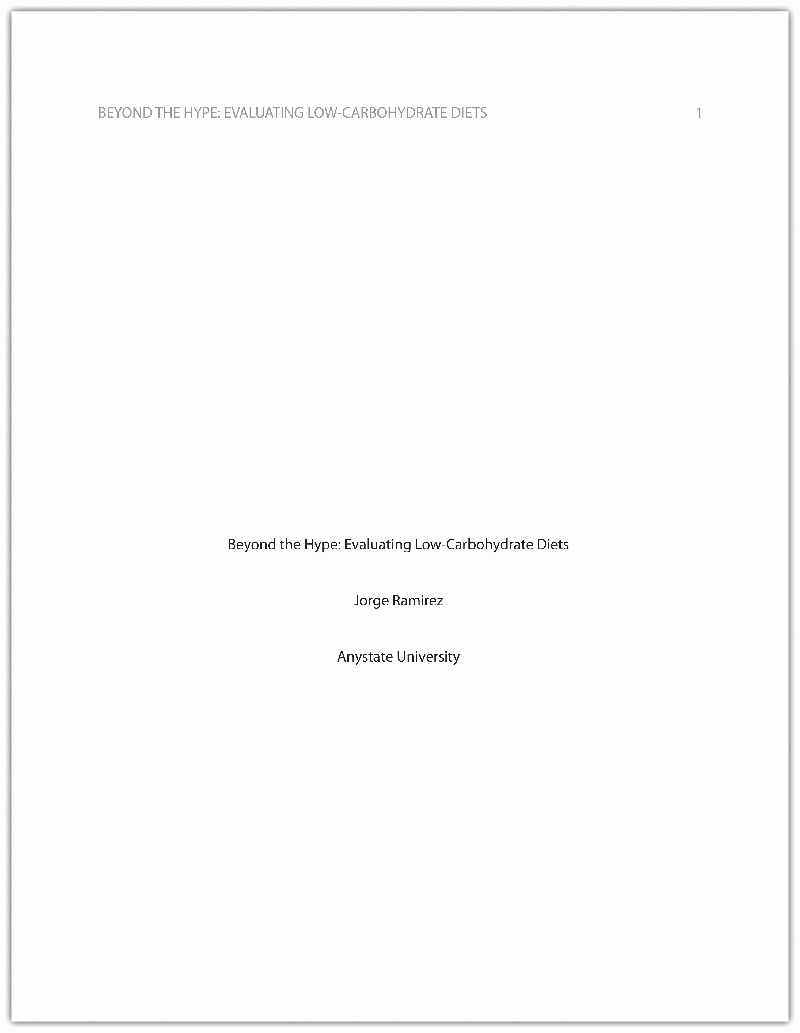 Apa Style Title Page Template Luxury formatting A Research Paper