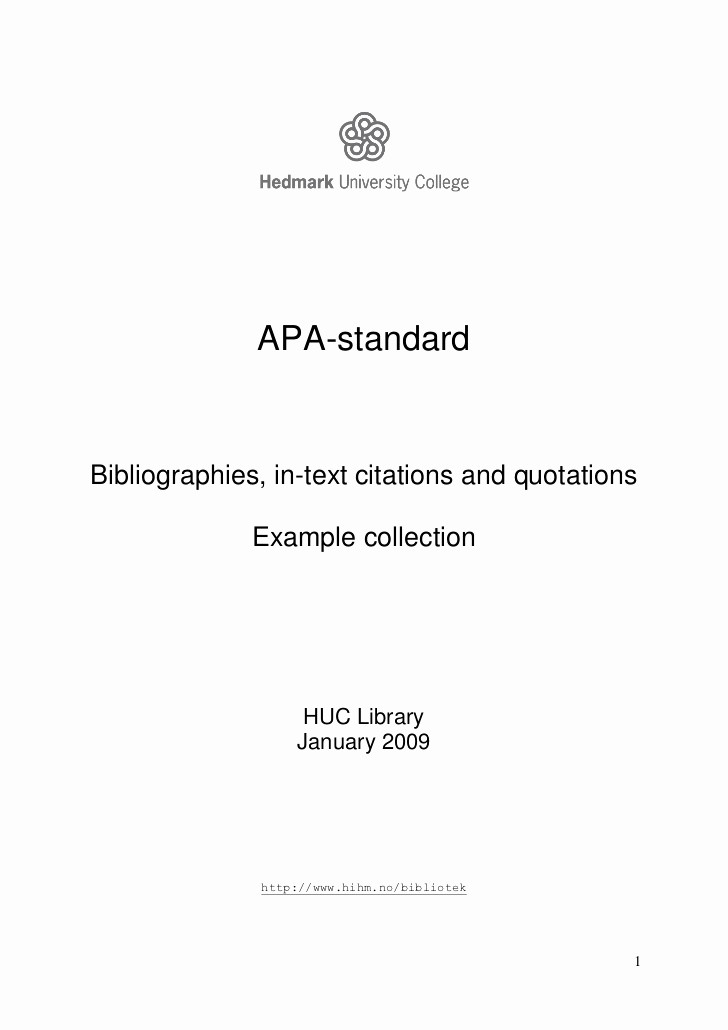 Apa Style Title Page Template New Apa Example Collection In English