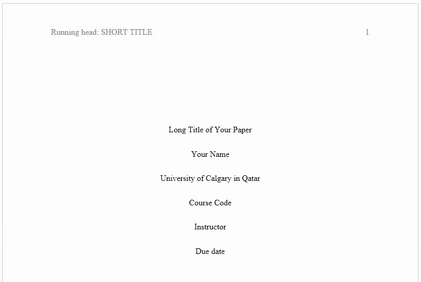 Apa Style Title Page Template New Apa formatting