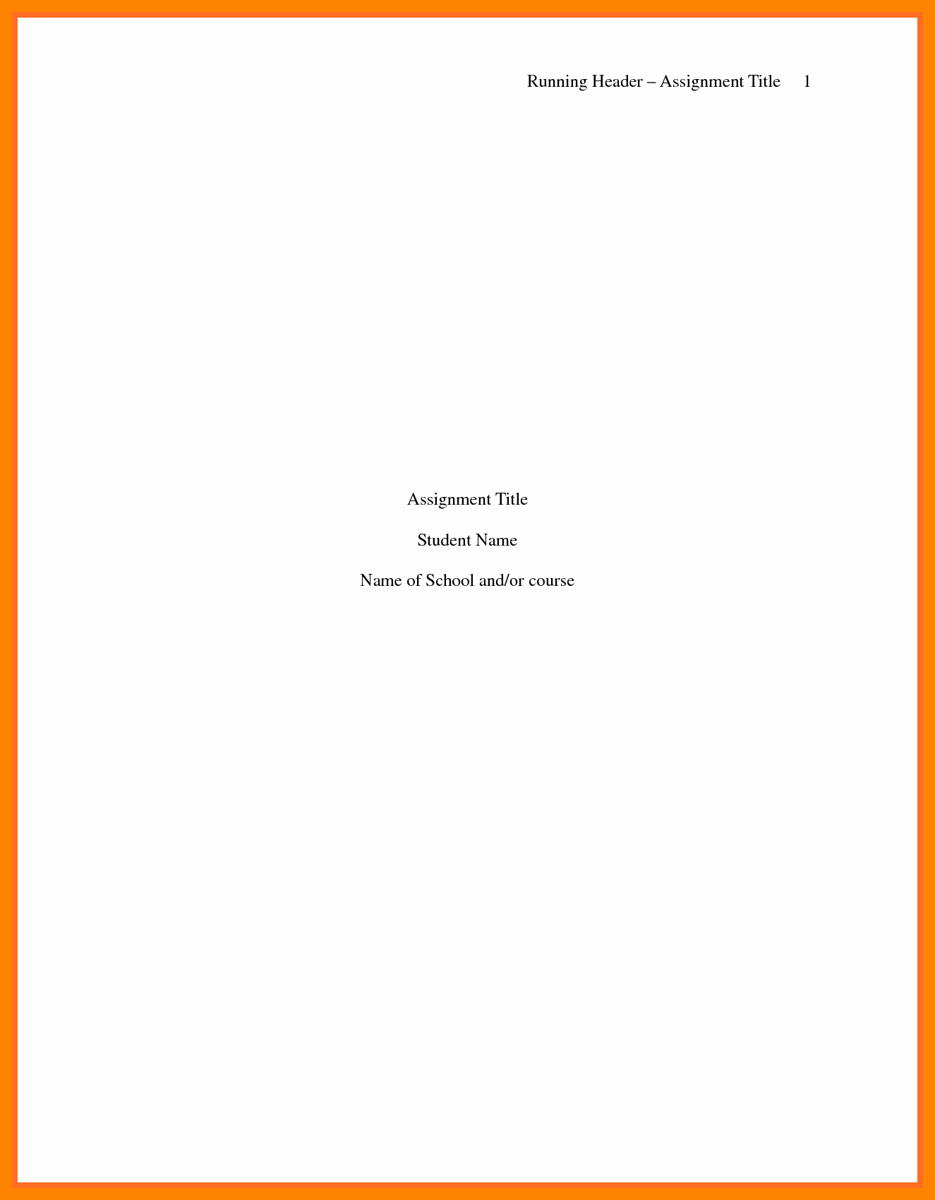 Apa Style Title Page Template New Apa Style Title Page Example Idealstalist