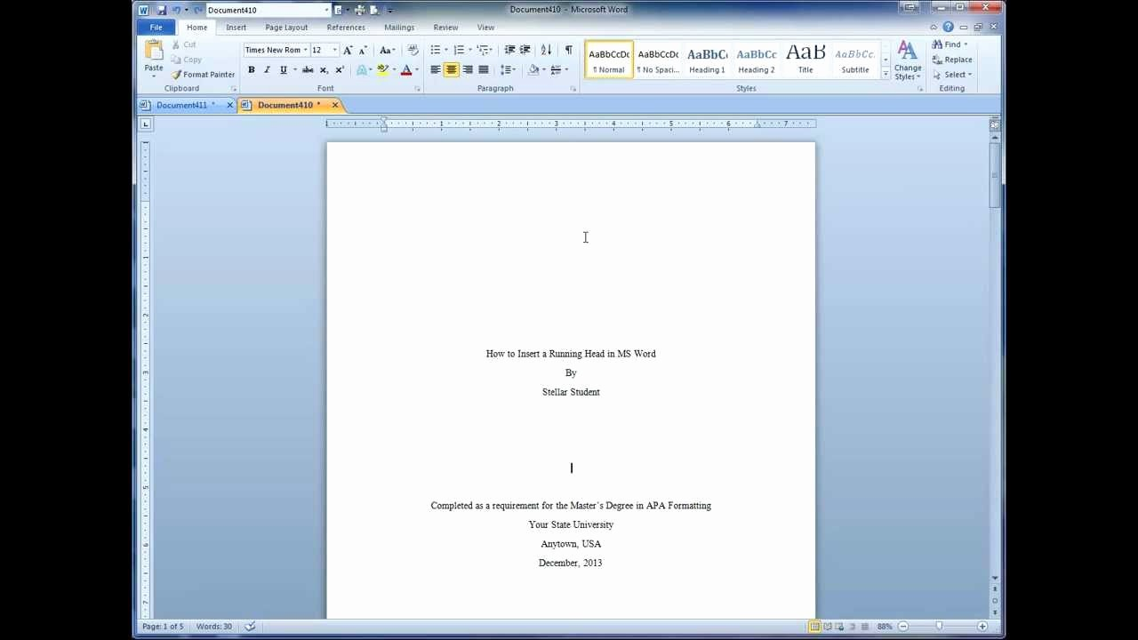 Apa Template for Open Office Elegant How to Insert 2 Apa Running Heads In Less Than 5 Minutes