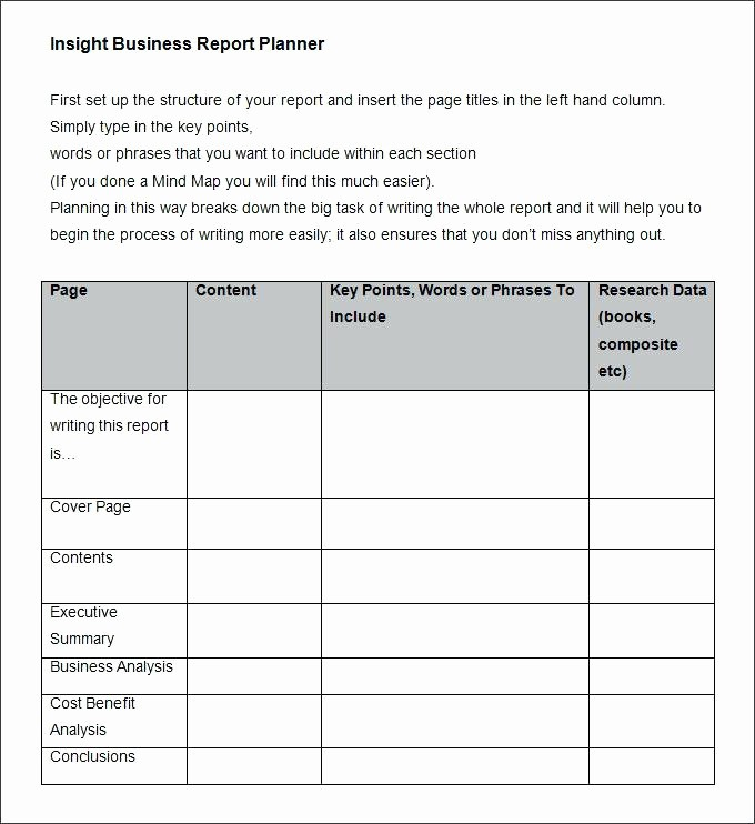 Apa Template for Open Office Lovely Business Report format Sample – Template Gbooks