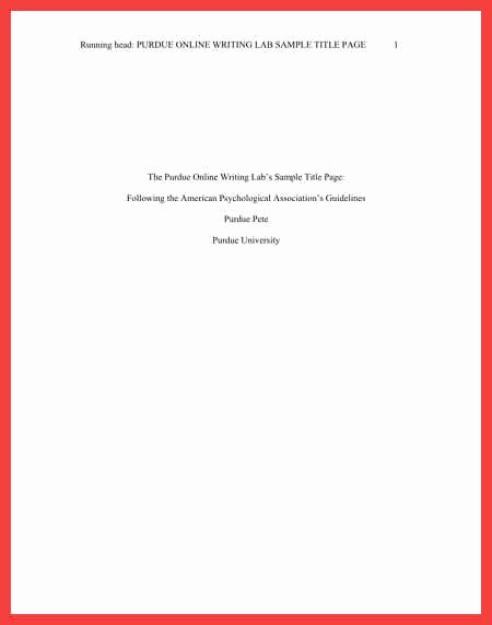 Apa Title Page Example 2016 Awesome Apa Title Page Example 2016