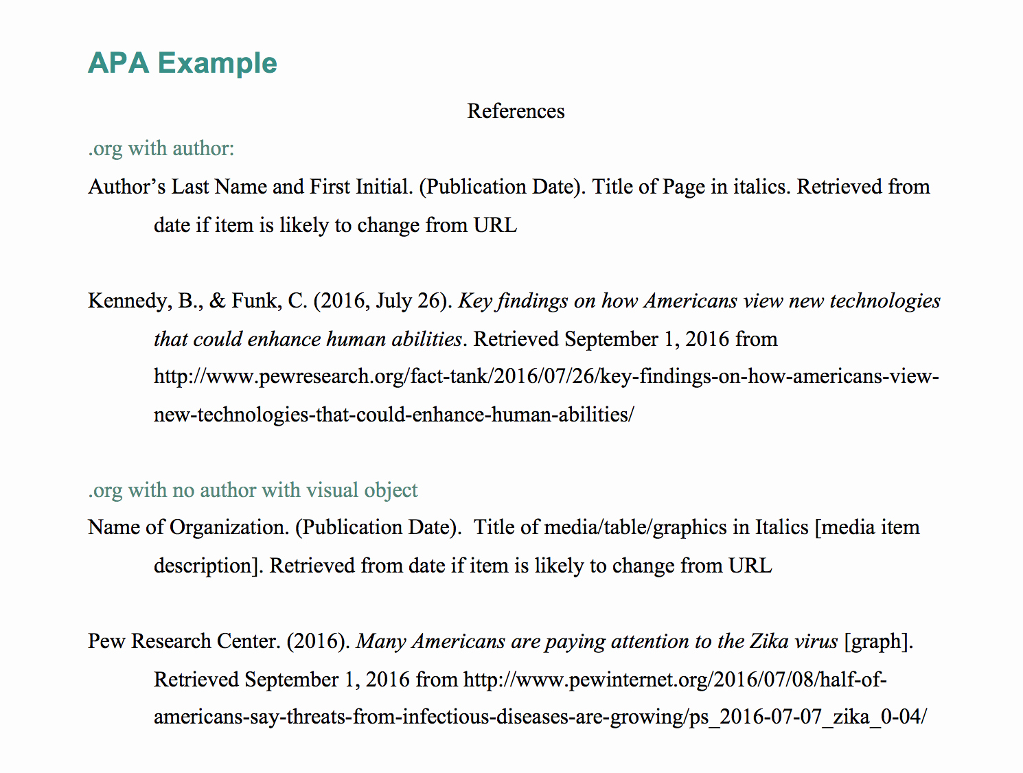 Apa Title Page Example 2016 Awesome Explanation & Example Apa Webpage In A Website with