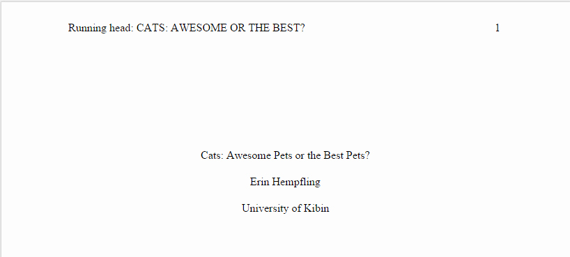 Apa Title Page Example 2016 Best Of the Stress Free Guide to Apa Essay format