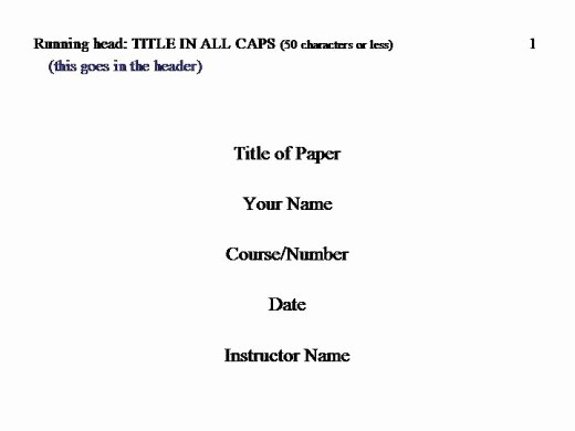 Apa Title Page Example 2016 Elegant How to Cite In Apa format