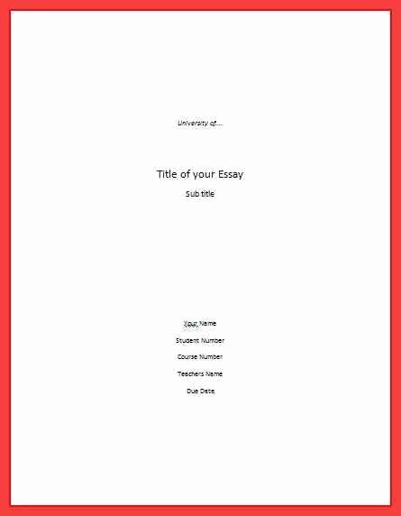 Apa Title Page Example 2016 Fresh Cover Page Apa format 2016