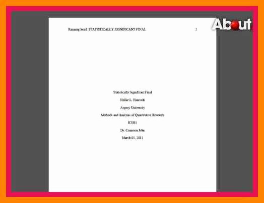 Apa Title Page Example 2016 Lovely 5 6 Examples Of Title Pages In Apa format