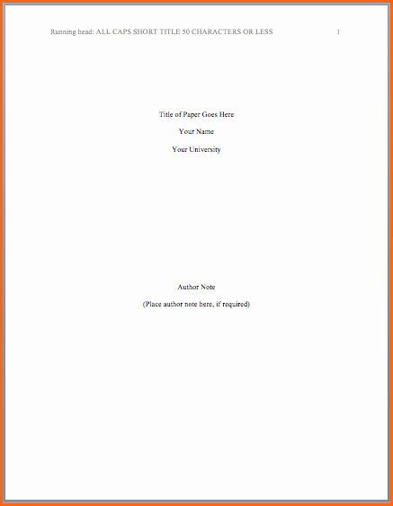 Apa Title Page Example 2016 Lovely 8 What is Apa format Look Like Bud Template Letter