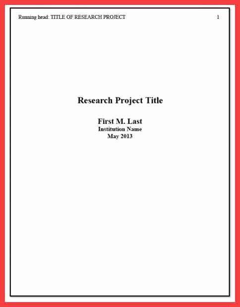 Apa Title Page Example 2016 Lovely Apa format Cover Page 2016