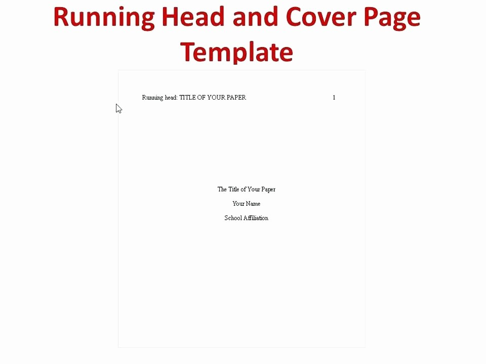 Apa Title Page Example 2016 Luxury Best Title Page Template Ideas Business Quote Templates