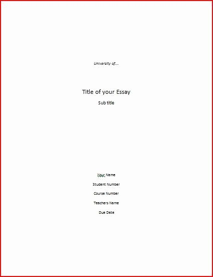 Apa Title Page Example 2016 New Apa Cover Letter format Best Template Collection