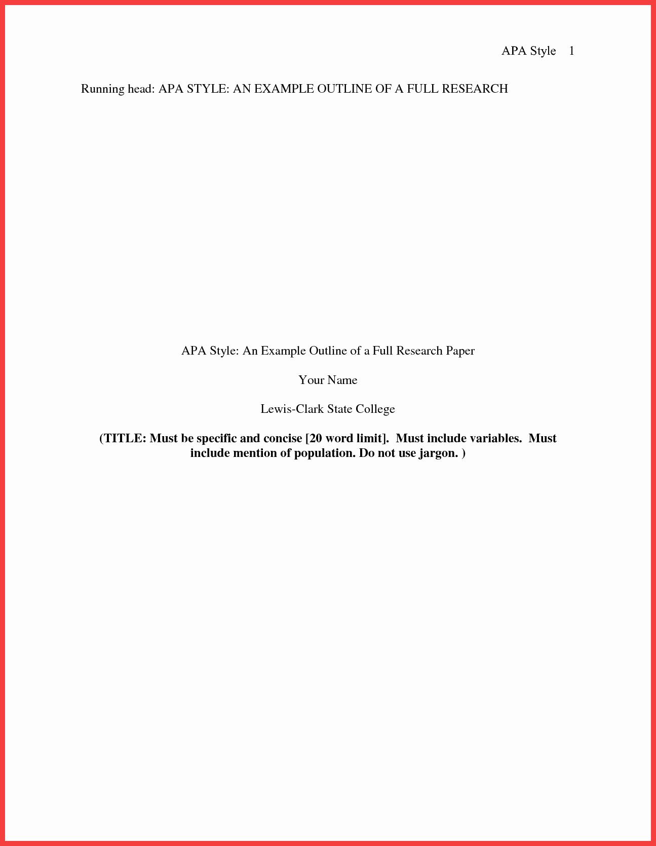 Apa Title Page Example 2016 Unique Apa format Title Page 2016