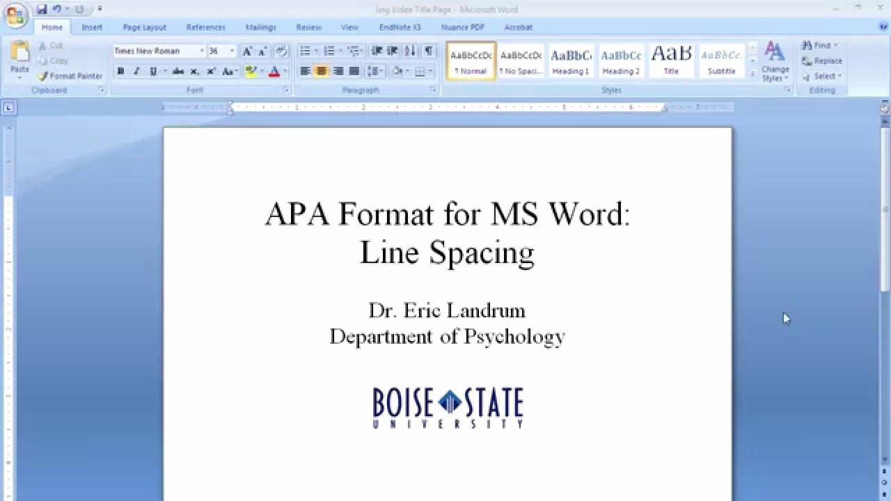 Apa Title Page In Word Awesome Apa format for Microsoft Word Line Spacing